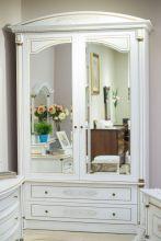 Шкаф ЭЛЕГАНЦА А для одежды с зеркалами 2-дверный эмаль