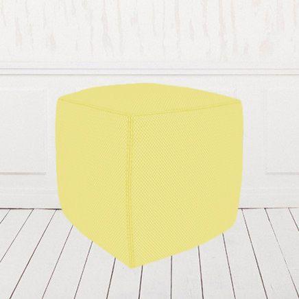 Пуфик-кубик желтый