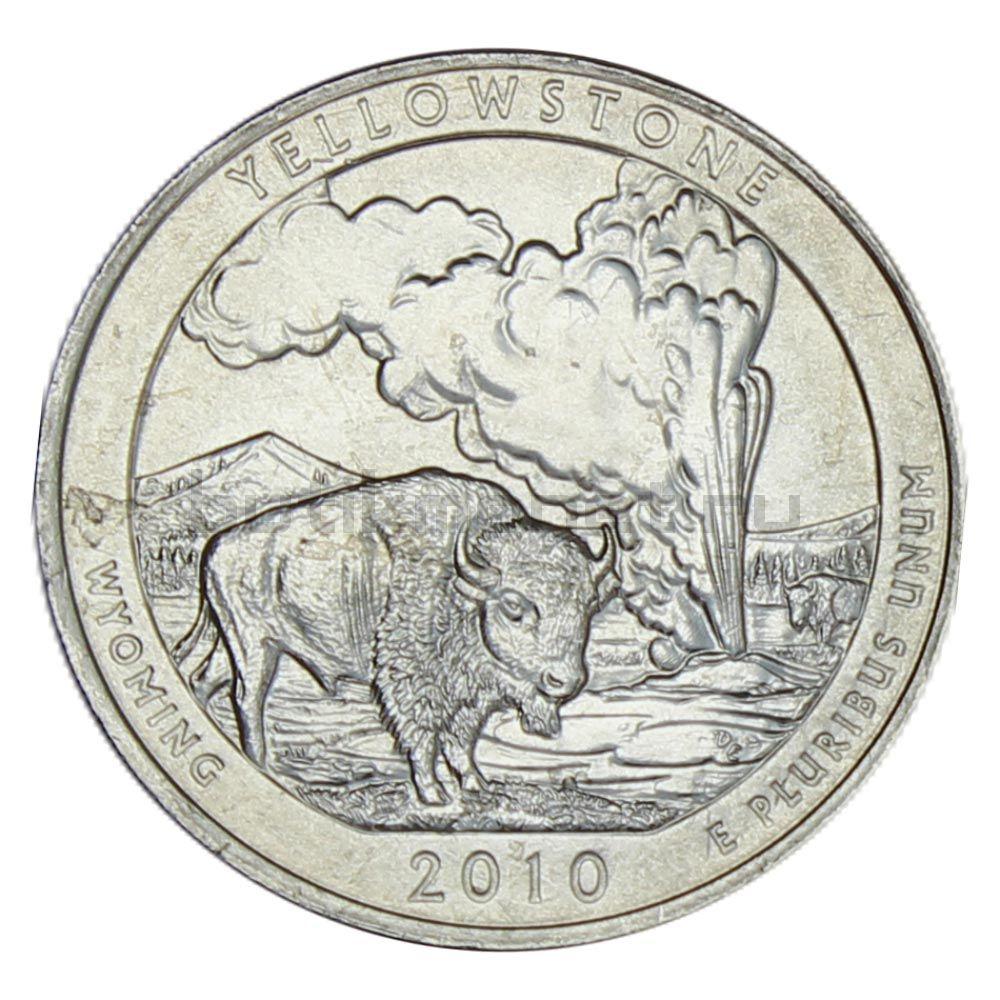 25 центов 2010 США Национальный парк Йеллоустоун P