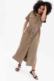 Платье-рубашка бежевое арт 3022.1.1