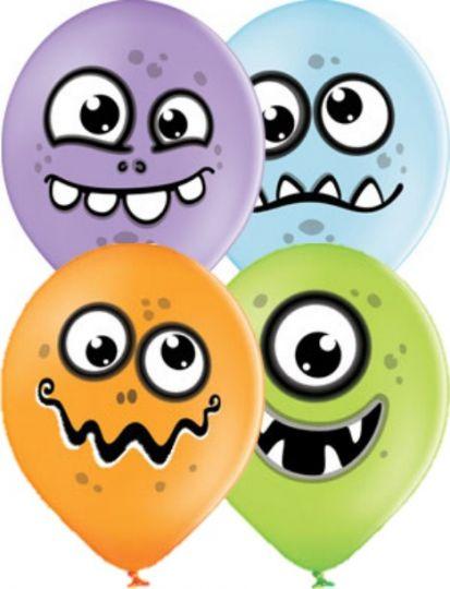 Забавные Монстрики латексные шары с гелием