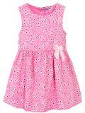 Сатиновое платье на девочки Bonito розовое в цветочек