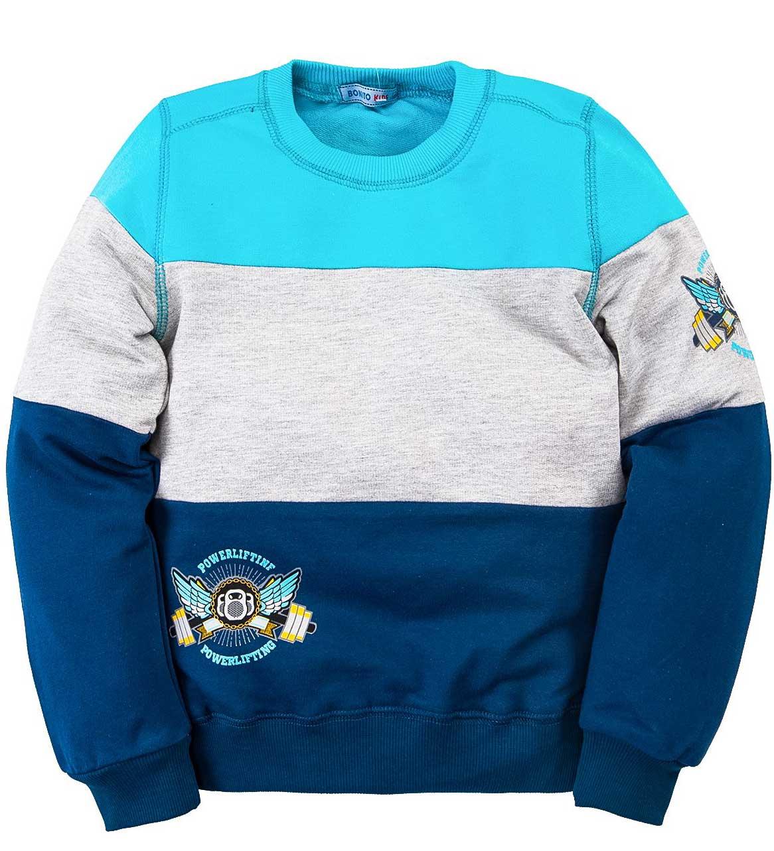 Джемпер для мальчика Bonito голубой с синим