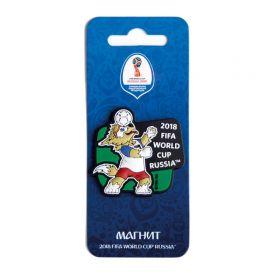 Магнит виниловый  Волк Забивака Удар Чемпионат мира по футболу FIFA RUSSIA 2018 года