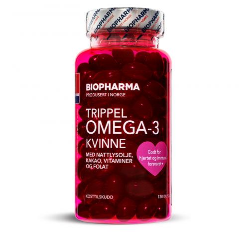 Biopharma Trippel Omega-3 Kvinne 120 капсул_