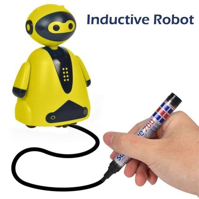 Индуктивная игрушка Робот с LED сенсором, цвет желтый