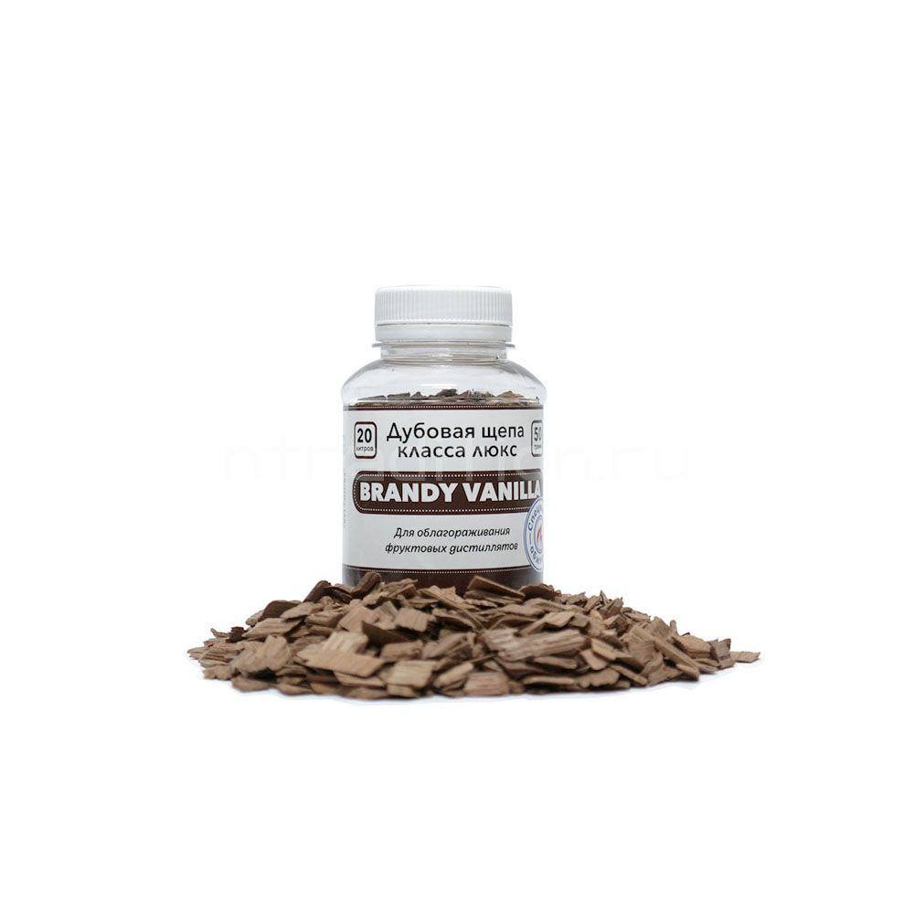 Щепа дубовая Brandy Vanilla, специальный обжиг, 50 гр. (Франция)