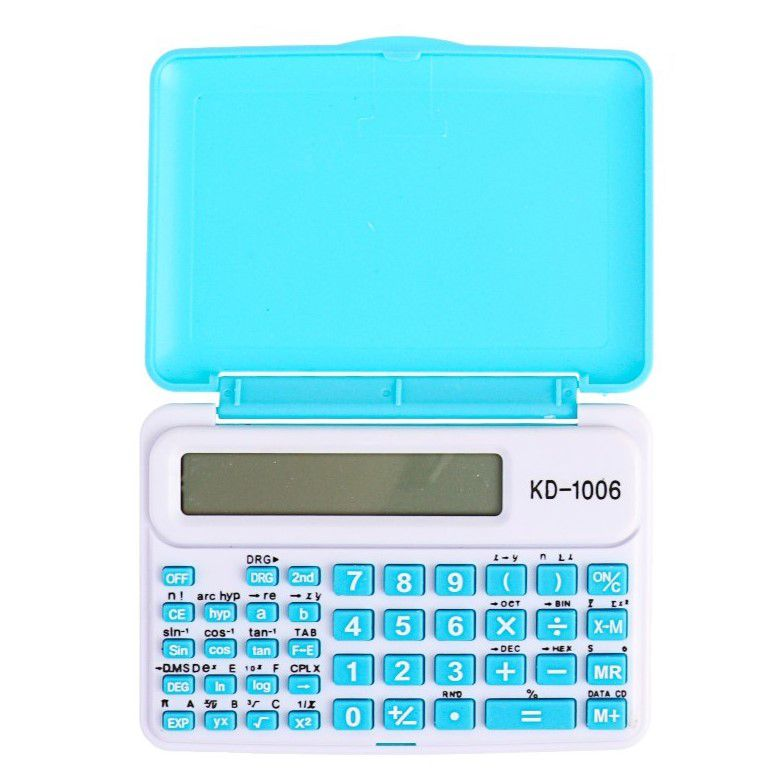 Инженерный 10-Разрядный Калькулятор Kenko KK-1006C, Цвет Голубой