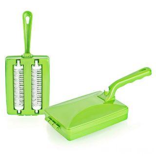 Механическая щетка для чистки ковров Ручной пылесос, Цвет: Зеленый