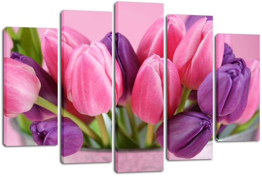 Модульная картина Красивые тюльпаны