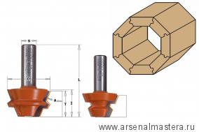 CMT 955.005.11 Комплект фрез концевых CMT для соединения 22 градусов D37,3 I22,2 S8,0 L60,3