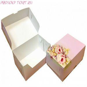 Коробка для торта, пирожных 235х160х10 РОЗА