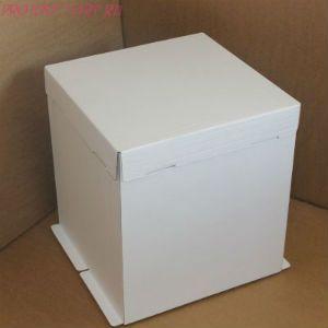 Коробка для торта, 300x300x450мм, гофрокартон, белая