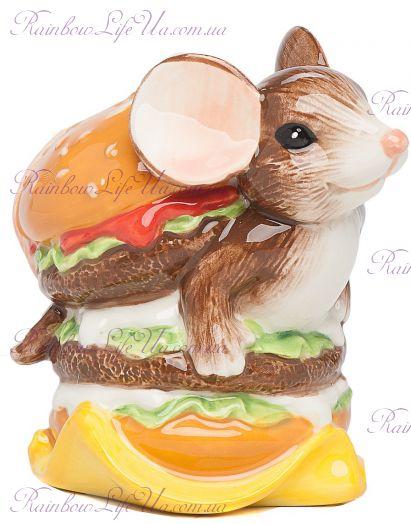 """Фигурка мышонок гамбургер """"Pavone"""""""