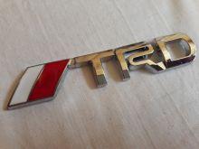 Металлическая эмблема TRD на кузов (хром)