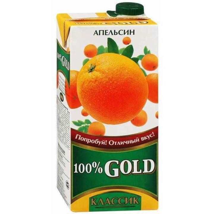 Напиток сок.100% Gold Классик 0,95л Апельсин