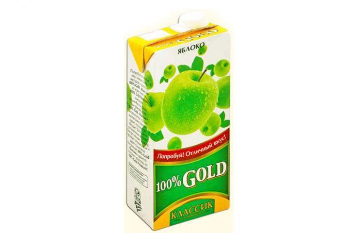 Напиток сок.100% Gold Классик 0,95л Яблоко