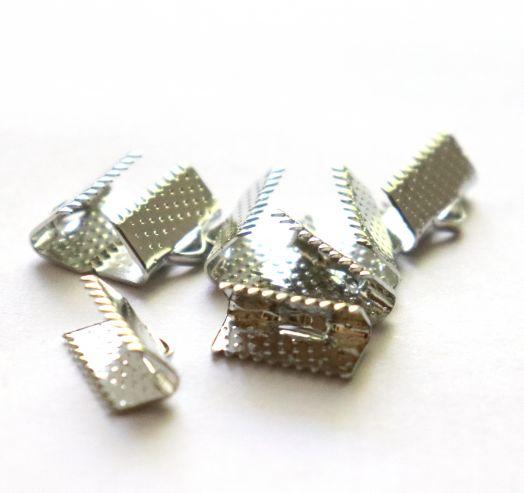 Зажим для ленты, никель, 13 мм, 8 шт/упак