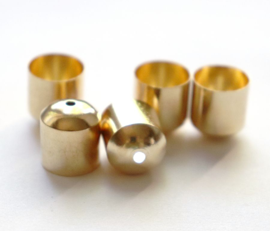 Колпачок с отверстием, D-12 мм, Золото, 6 шт/упак