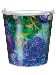 """Ведро 5 литров """"Новый год"""" - все для сада, дома и огорода!"""