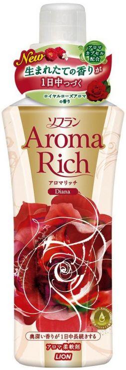 Lion Кондиционер-ополаскиватель для белья с ароматом натуральных масел Soflan Aroma Rich Diana с дозатором 550 мл