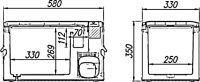 Компрессорный автомобильный холодильник Alpicool MK25