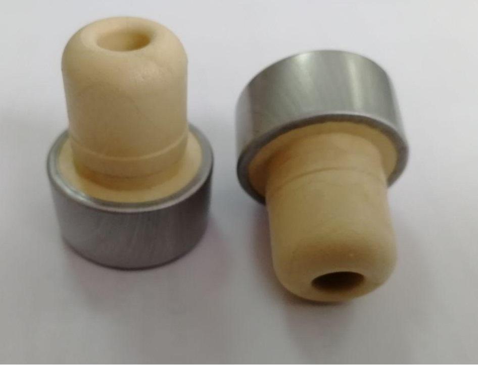Т-образная полимерная пробка Камю, декорированная алюминием  , 19,5 мм