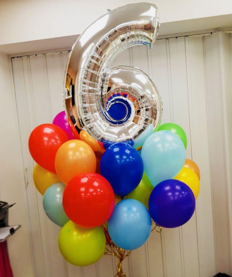 Оформление воздушными шарами дня рождения