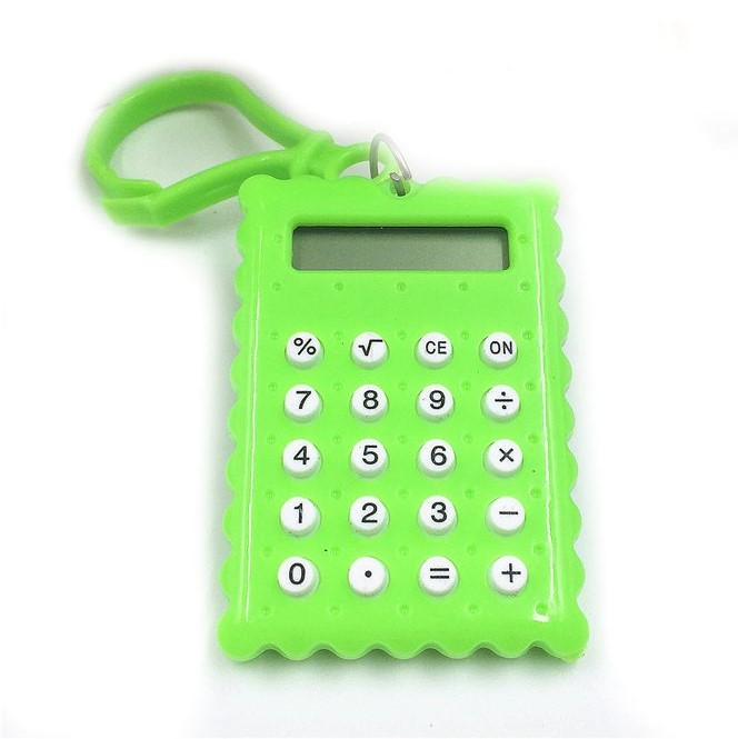 Брелок 8-разрядный калькулятор Печенька, цвет зеленый
