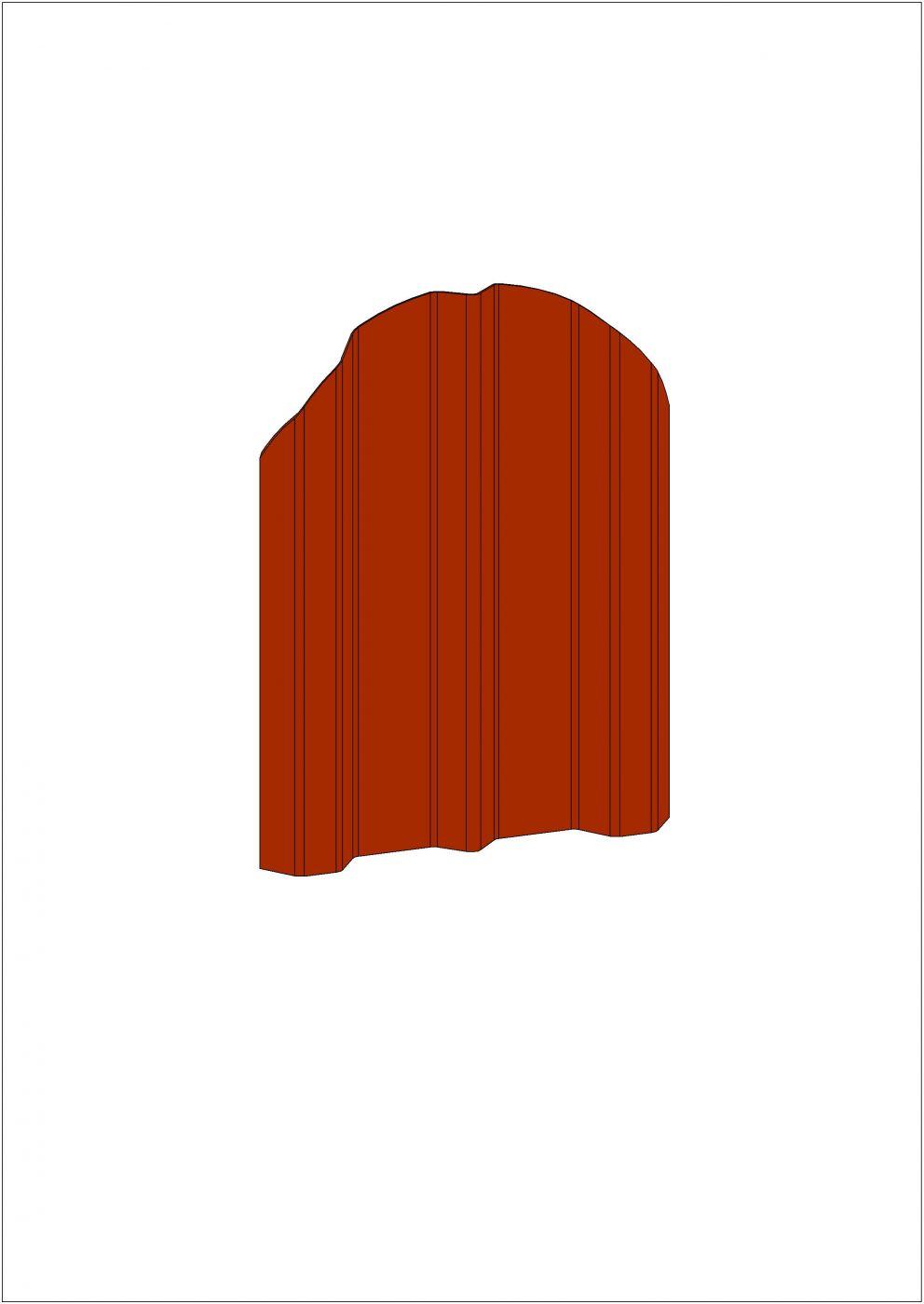"""Штакетник """"Прованс"""" (прямой/фигурный) - Штакетник 100"""