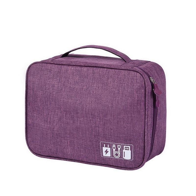 Дорожный Органайзер Для Проводов Travel Digital Pouch, Цвет Фиолетовый