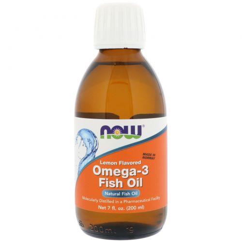 Omega-3 Fish Oil от Now Foods 200 мл (лимон)_