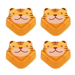 Мягкие накладки на углы Зверята Beideli, 4 шт, Тигр