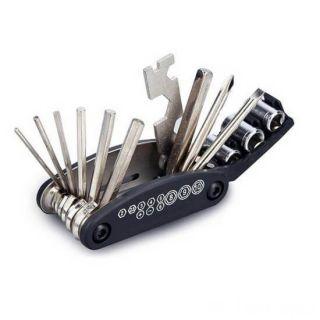 Складной набор инструментов для велосипеда, 16 в 1
