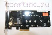 Карта PCI-e адаптер m.2/nvme ASUS HYPER M.2 X4 rev 1.0, новый