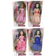 ИГРОЛЕНД Кукла шарнирная в нарядном платье, 30см, пластик, полиэстер, 6 дизайнов