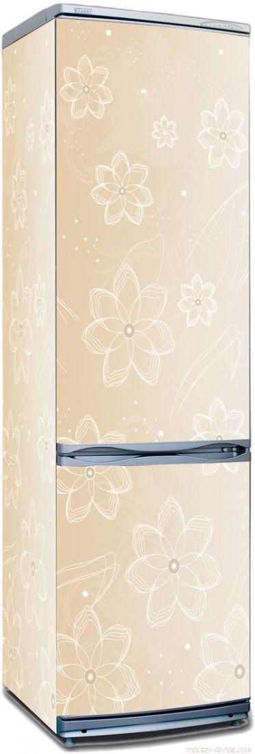 Наклейка на холодильник - Цветочный латте