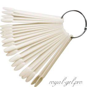 Палитра миндальная веер на кольце на 50 оттенков натуральная