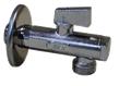 """Кран шаровой угловой с фильтром для подключения с/т приборов (хром)(Размер 1/2""""x1/2"""")"""