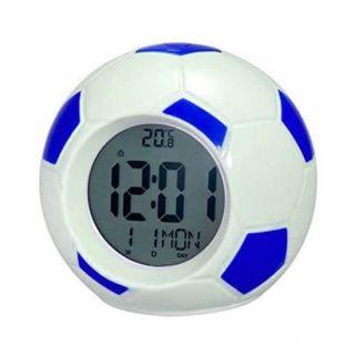 Настольные говорящие часы Футбольный мяч Atima AT-609TI, Цвет: Синий