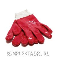 Перчатки ПВХ красные