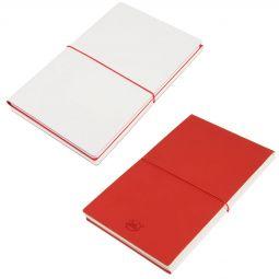 бизнес блокноты Combi 21219 белые с красным