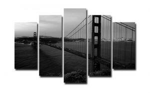 Модульная картина Черно-белый мост