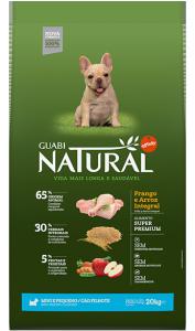 GUABI NATURAL Для Взрослых собак Мелких пород. Цыпленок и коричневый рис 10,1 кг (новая упаковка)