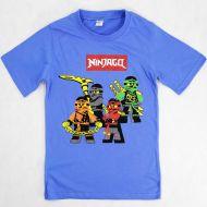 Футболка для мальчика 4-8 лет DIAS kids голубая Ninjago