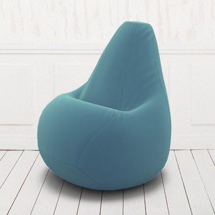 Кресло мешок груша бескаркасное. Велюр. Голубая