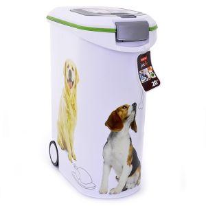 Контейнер CURVER PET LIFE для корма с колесами и ковшиком на 20кг/54л, 28х49х60 см