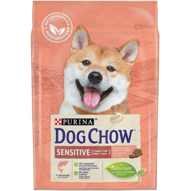 Корм сухой PURINA DOG CHOW SENSITIVE для собак всех пород с лососем 14кг