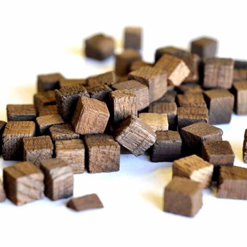 Кубики из дерева вишни, Россия (средний обжиг), 50 гр, на 10-50 л