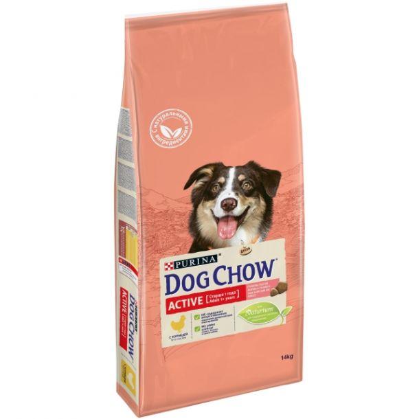 Корм сухой PURINA DOG CHOW ACTIVE для собак всех пород с птицей 14кг